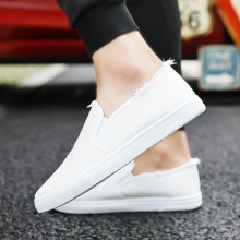 Men's Washed Color Tattered Canvas Shoes Street Wear Hot Trend Male Low Shoes