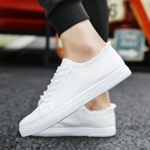 Men's Washed Color Tattered Canvas Lace Up Shoes Street Wear Male Fashion Shoes
