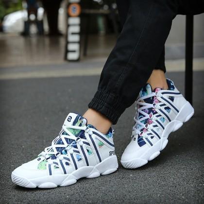 Men's Lightweight Comfort Style Lace Up Shoes Couple Plus Size Sports Shoes