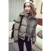 Women Winter Fur Coat Thick Cotton Zippered Ladies Fashion Plus Size Jacket