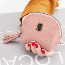Women Owl Retro Coin Purse Tassel Small Coin Bag Ladies Fashion Cute Wallet