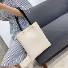 Women Simple Tote Shoulder Bag Soft Leather Large Capacity Ladies Fashion Bags