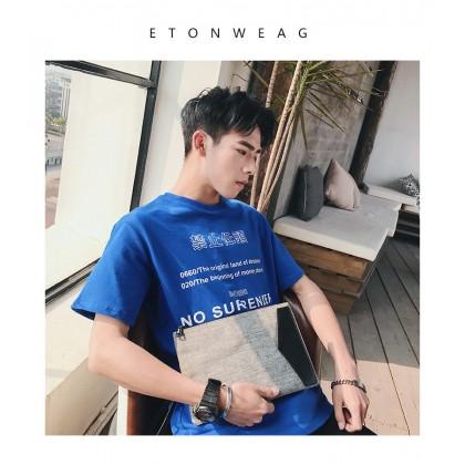 Men's Casual Gray Clutch Bag Business Paper Bag Mobile Wrist Street Trend Bag