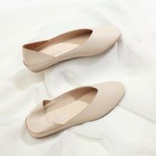 Women Dual Use Half Drag Fairy Shoes Peas Ladies Fashion Plus Size Flat Shoes
