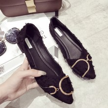 Women Pointed Classy Scoop Shoes Fashionable Daily Wear Ladies Flat Shoes