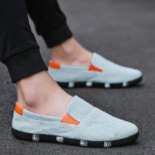 Men's Knitted Retro Casual Shoes Trendy Daily Fashion Breathable Lazy Peas Shoes