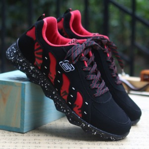Men's Sports Leisure Running Shoes In Style Street Wear Lace Up Rubber Shoes