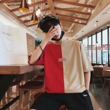 Men's Hip Hop Trend Loose Shirt Half Big Sleeves Handsome Trend Fashion Tee