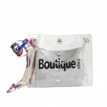Women Jelly Fairy Bag Small Messenger Bag Inside Scarf Design Fashion Sling Bag