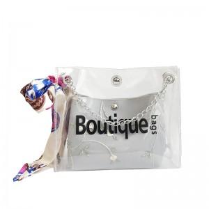 Women Jelly Fairy Bag Small Messenger Bag Inside Scarf Design Fashion Sling Bag