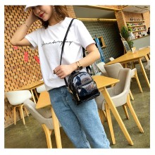 Women Cute Holographic Backpack Multi Purpose Shoulder Bag Fashionable Backpack