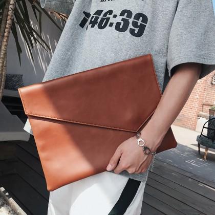 Men's Slim Envelope Clutch Bag Business File Package Male Fashion Hand Bag