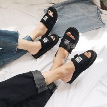Men's Summer Beach Fashion Slip On Flip Flops Couple Plus Size Outdoor Slippers