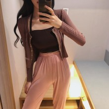 Women Long Sleeve Thin Knitted Cardigan Summer Fashion Sun Screen Outerwear