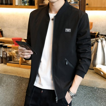 Men's Windproof Casual Jacket Baseball Uniform Handsome Fashion Plus Size Jacket