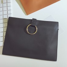 Women Chic Small Ring Clutch Bag Classic Briefcase Envelope Fashion Big Purse