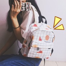 Women Cartoon Food Cute Backpack Student Fashion Ladies Mini On the Go Bags