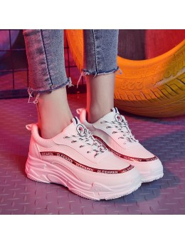 Women Retro Sports Shoes Thick Bottom Wild Trend Outdoor Fashion Rubber Shoes