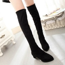 [READY STOCK] Tall Long Boots Elastic Slim Stretchable Women Shoes