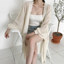 Women Long Sleeve Chiffon Summer Fashion Sun Screen Loose Cardigan