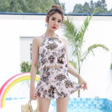 Women Two-Piece Swimsuit Split Skirt Conservative Plus Size Fashion Swimwear