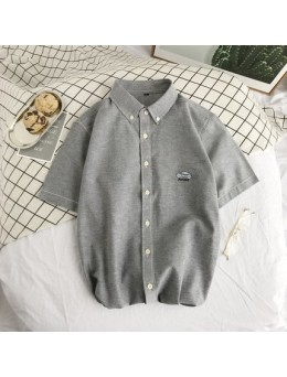 Men's Summer Short Sleeve Teens Fashion Plus Size Casual Shirt With Car Embroidery Design