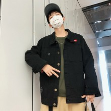 Men's Camouflage Denim Student Fashion Loose Jacket