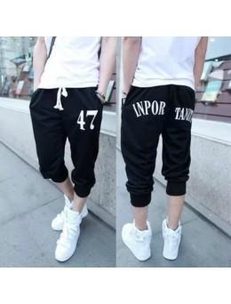 Men's Summer Fashion Loose Teens Casual Printed Sweatpants