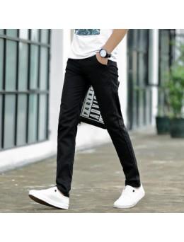 Men's Slim Fit Straight Long Pants Street Wear Male Fashion Trendy Trousers