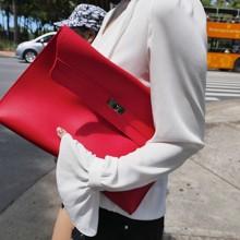 Women Trendy Envelope Medium Bag Casual Simple Soft Clutch
