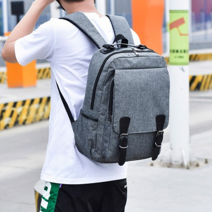 Men's Student Fashion College Backpack Computer Bag