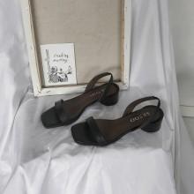 Women's Peep Toe Mid Heel Belt Strap Summer Sandals