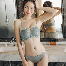Women No Steel Ring Bra Sexy Japanese Fashion Lace Underwear Set