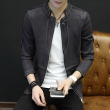 Men's Slim Casual Zippered Baseball Uniform Fashion Jacket