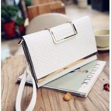 Women Clutch Bag Shoulder Portable Weaving Small Envelope Fashion Purse