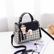 Women's Small Square Shoulder Plaid Fashion Sling Messenger Bag