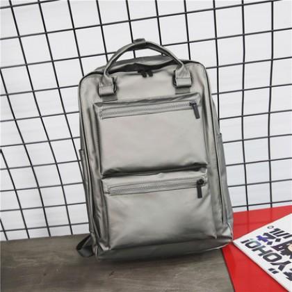 Men's Large Capacity Backpack Waterproof Multi Function Travel Bag Student Bag