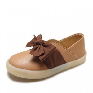 Women Summer Bow Soft Leather Soft Bottom Student Flat Shoes