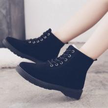 Women Winter Warm Velvet Shoes Trendy Fashion Student Boots