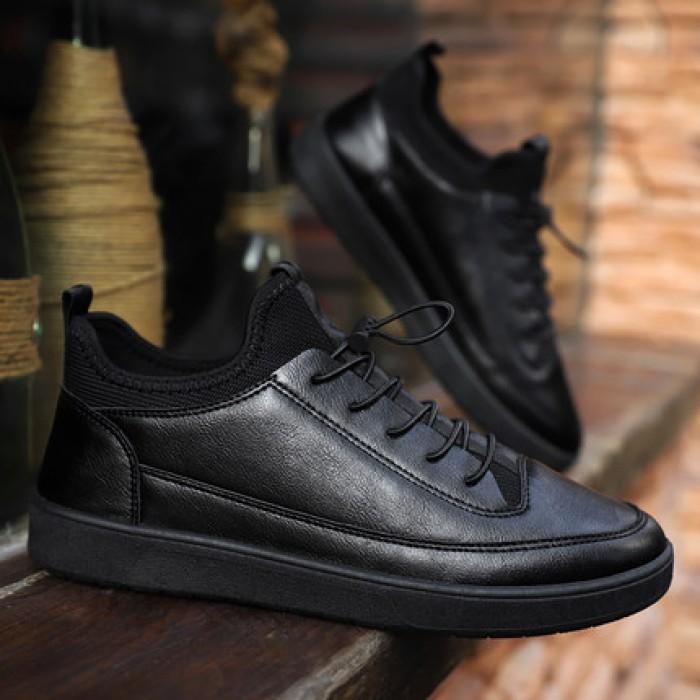 7e9807d72076 Men s Tide Shoes Work Shoes Casual Black Non-Slip Shoes