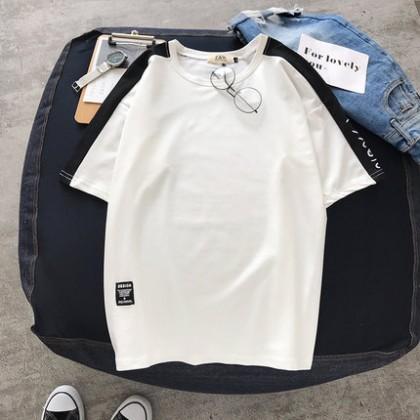 Men's Summer Outdoor Half-Sleeved Shirt Round Neck Fashion Plus Size Tees