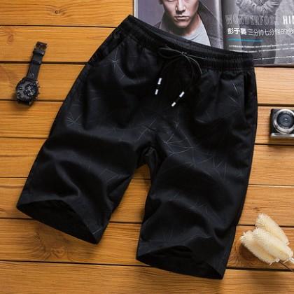 Men's Casual Summer Short Micro Elastic Outdoor Plus Size Fashion Pants