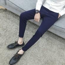 Men's Slim Fit Straight Long Pants Micro Elastic Casual Fashion Trendy Pants