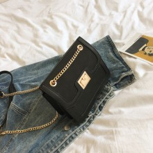 Women's Solid Color Small Messenger Bag Chain Shoulder Square Bag