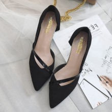 Women New Pointed Stiletto High Heels Shoes Office Shallow Mouth Shoes