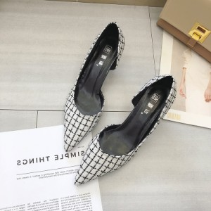 Women Pointed Toe High Heels Office Shoes Shallow Mouth Plus Size Shoes