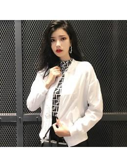 Women Student Wind Jacket Baseball Uniform Coat Casual Trend Jacket