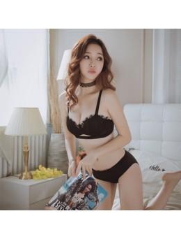 Women Sexy Underwear Suit Girl Without Steel Ring Thickening Gathered Bra Set