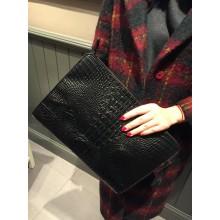 Women Clutch Bag Crocodile Pattern Handbag Envelope Evening Bag