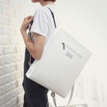 Women's Retro Style Shoulder Bag Student Bag Rectangular Backpack